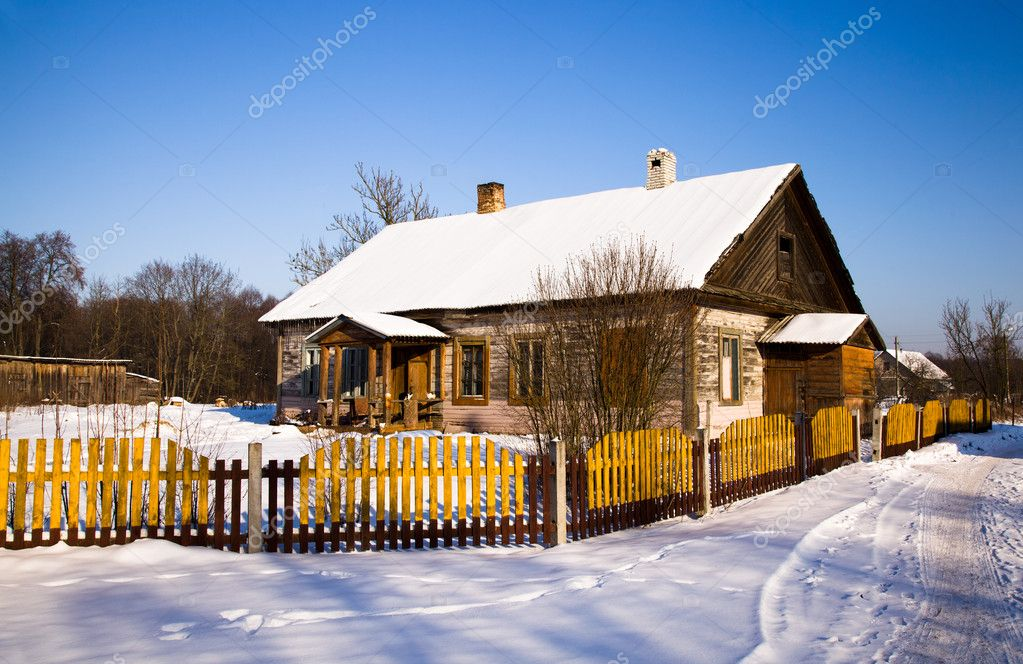 The wooden house