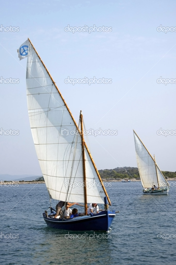 Traditional Wooden Sailboats Stock Editorial Photo Shufuu 8689817