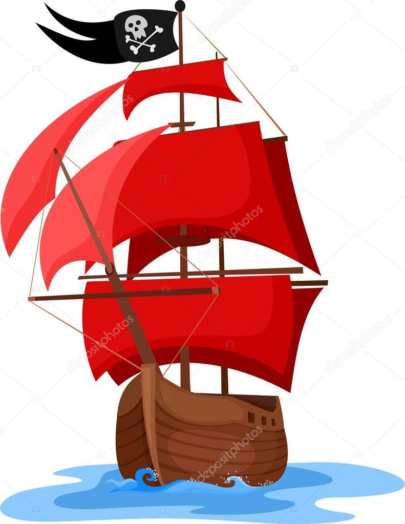 pirate ship stock vector nem44a 8906313 rh depositphotos com pirate ship vector drawing pirate ship vector image