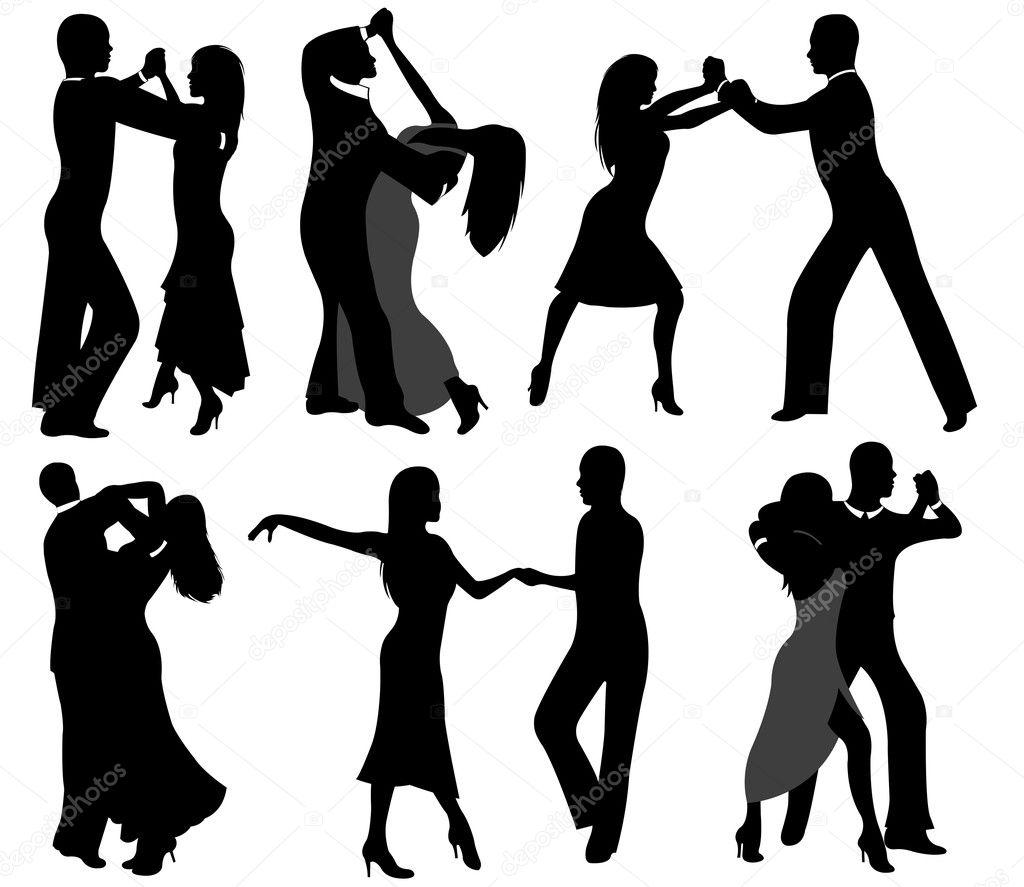 Dancer silhouettes