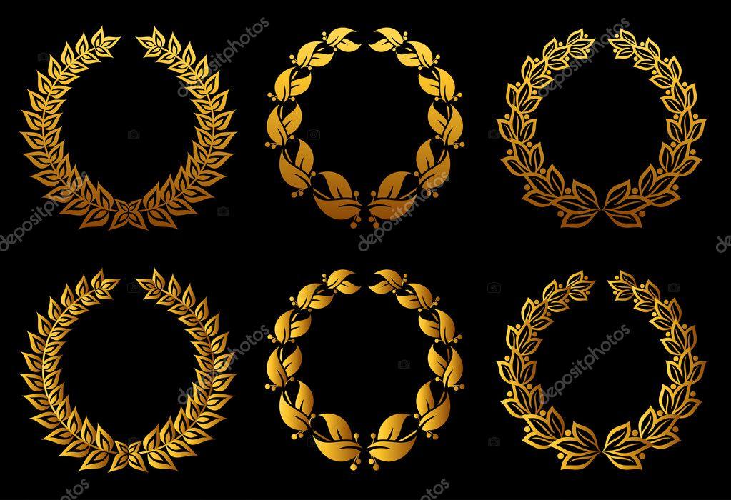 Sada vavřínové věnce pro odznak nebo label design — Vektor od ... dd4ab7fce8