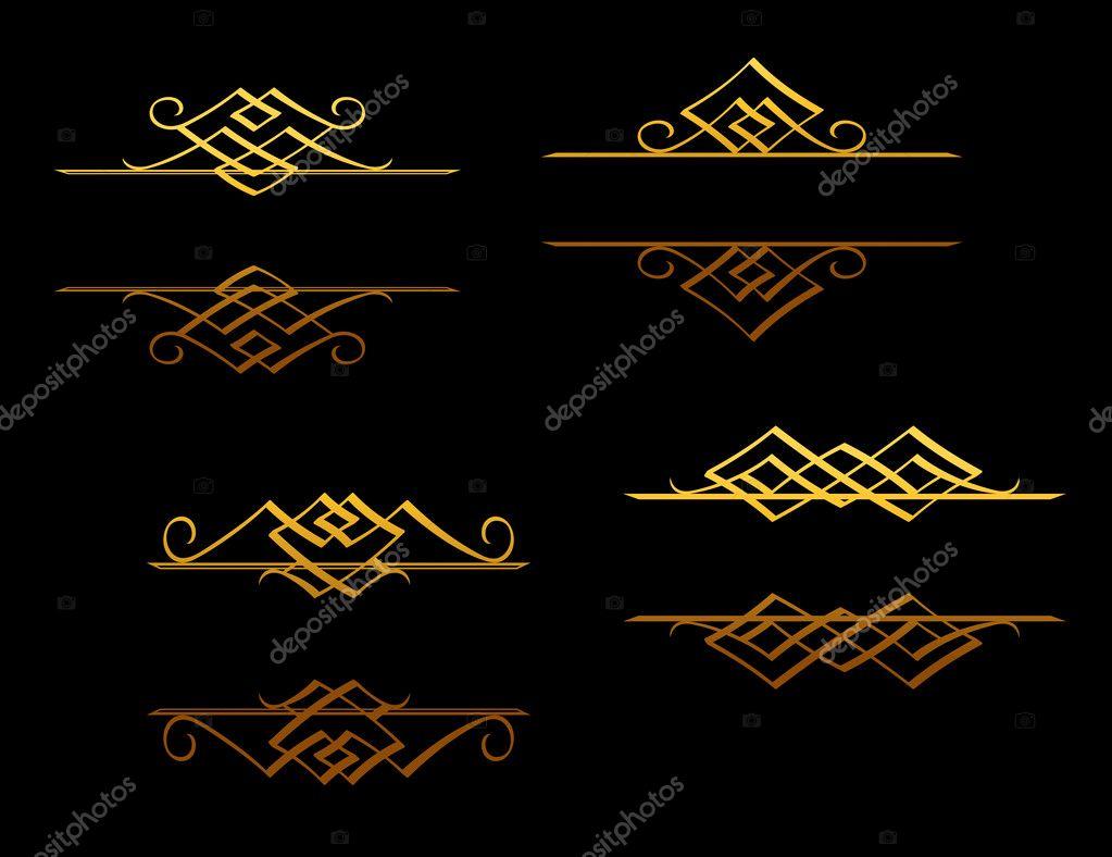 Goldene Ränder und Rahmen — Stockvektor © Seamartini #9103376