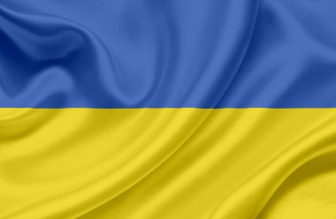 Ukraine waving flag