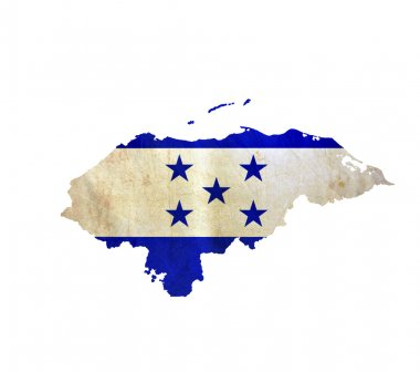 Map of Honduras isolated