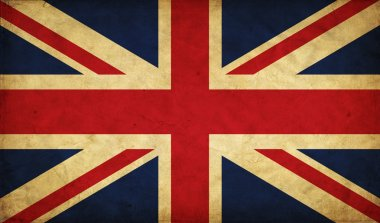 United Kingdom grunge flag