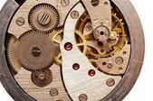 Old pocket watch mechanism