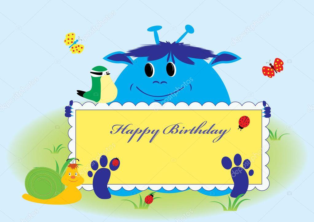 Happy birthday card cute animals Vector inxti74 8138658 – Happy Birthday Card Cute