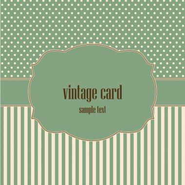 Vintage card, polka dot design.