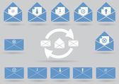 vektorový sada ikon pošty
