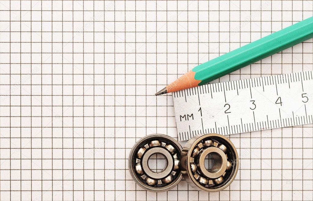 technische Hilfsmittel auf einem Hintergrund — Stockfoto © inxti74 ...