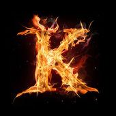 Fényképek tűz ábécé levél k