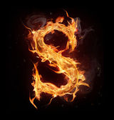 Fire alphabet letter S