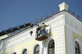 Fotografie Renovierung der Haus-Fassade