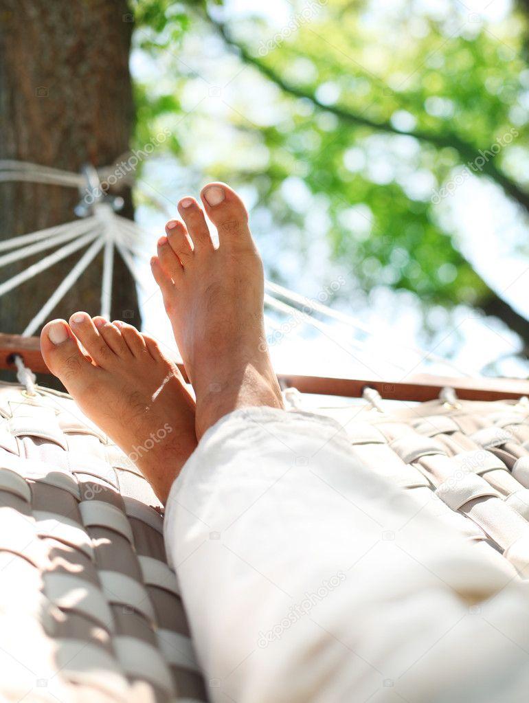 Feets in a hammock
