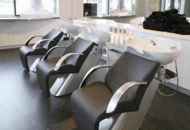 Empty hairdresser salon