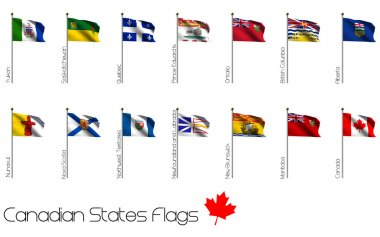 Flag Set of Canadian Provinces