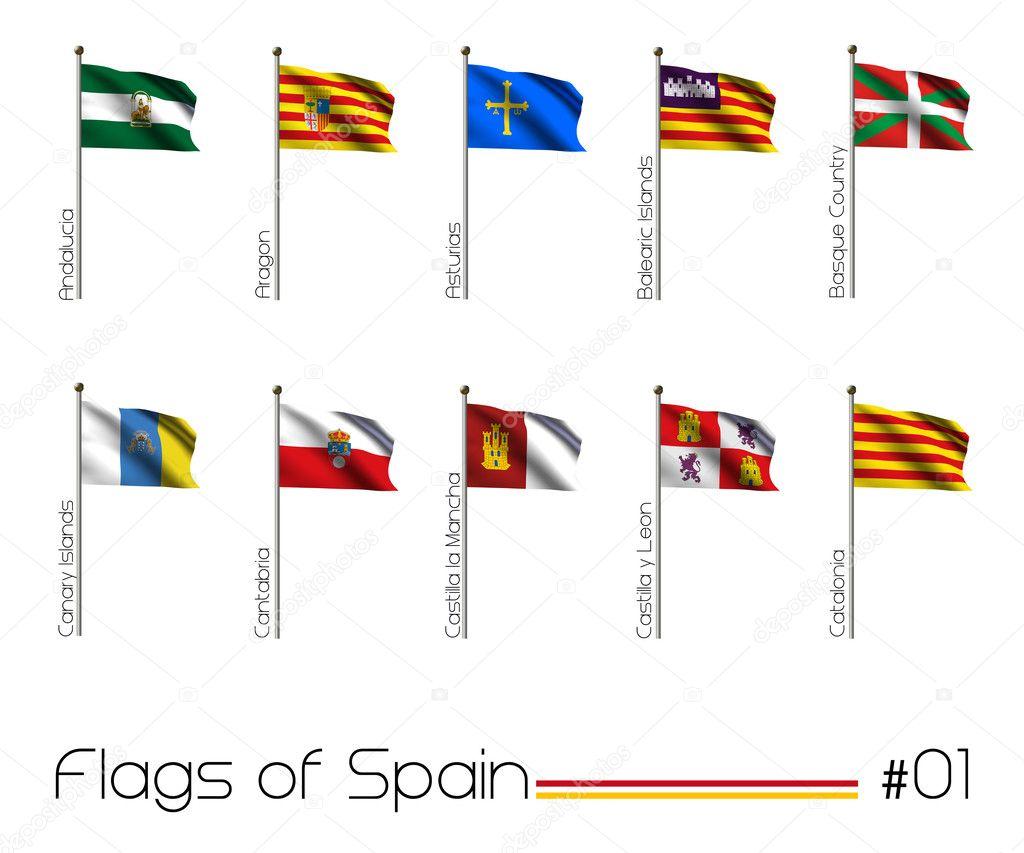 flag set of all spanish provinces u2014 stock photo bennyx83 8523153
