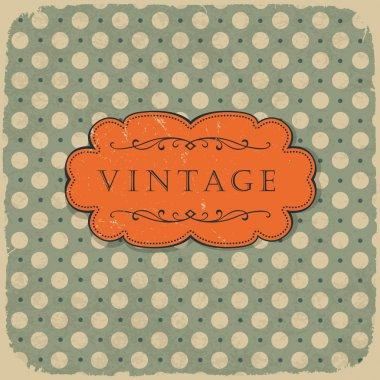 Polka dot design, vintage styled background.