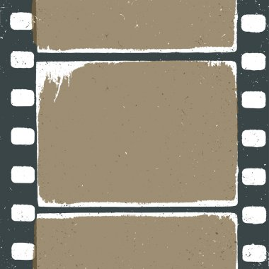 Empty grunge film strip design, may use as a background or overl