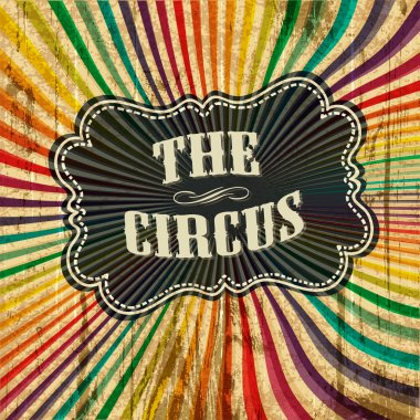 Circus sunbeam pattern background. Vector illustration, EPS10