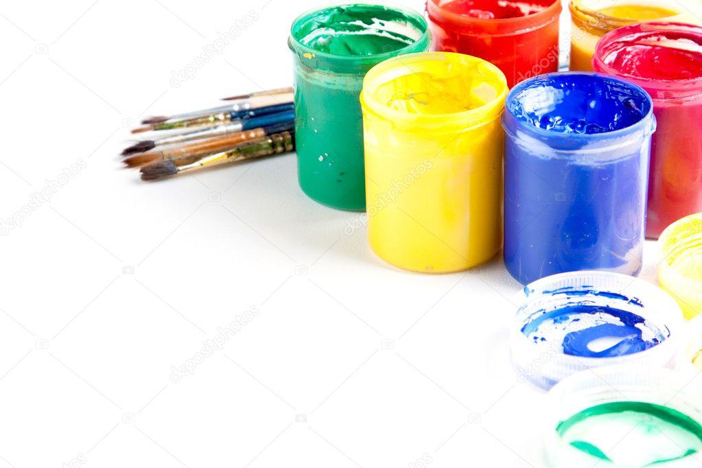 раскрытии краски для раскраски картинок краски в баночках закованные прочные