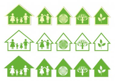 Series Green House Icons