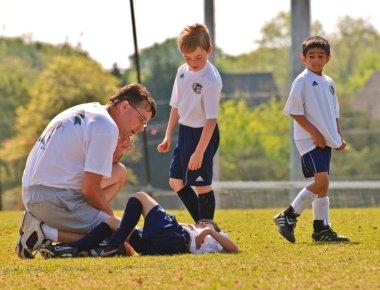Soccer Injury Player Down