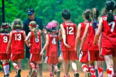 Girls Softball End of Game