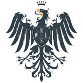 Fotografie Black heraldic eagle 2