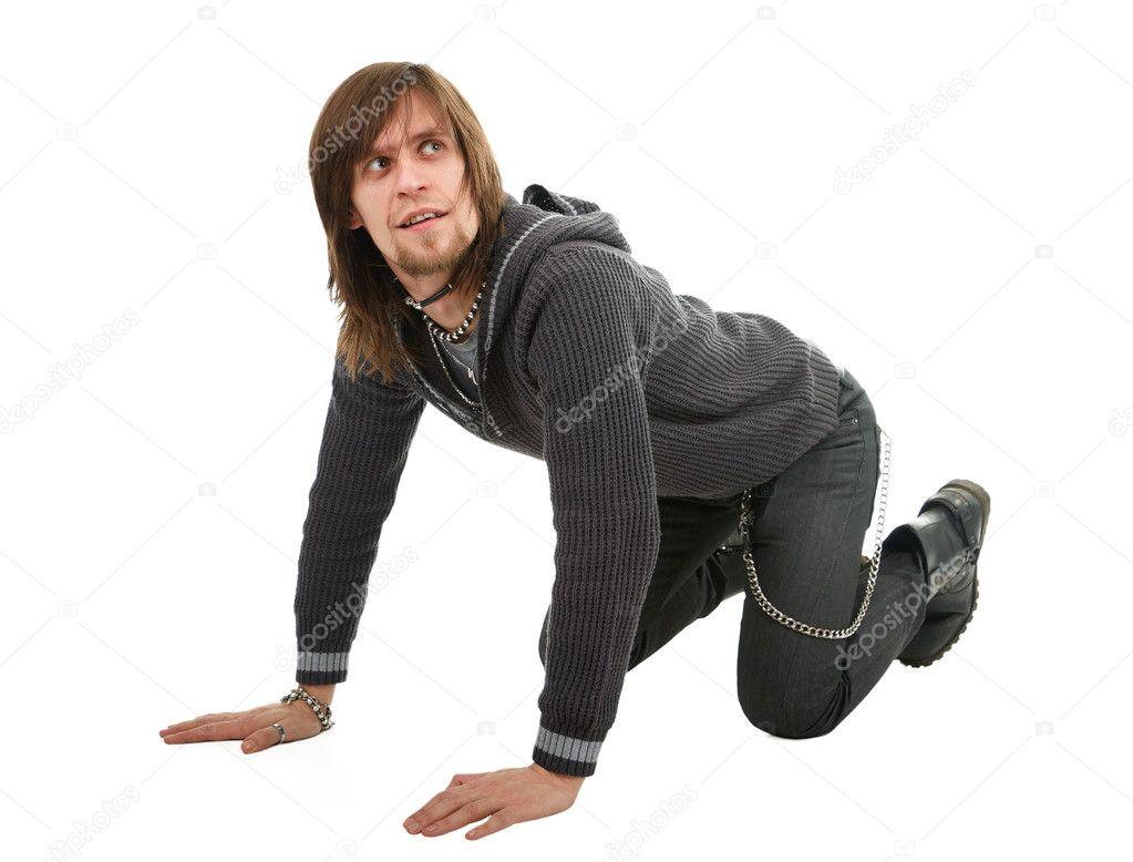 Uomo in piedi a quattro zampe foto stock dima266f 9998565 for Piani di studio 300 piedi quadrati