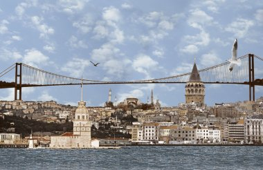 Picture of very large background of Istanbul.