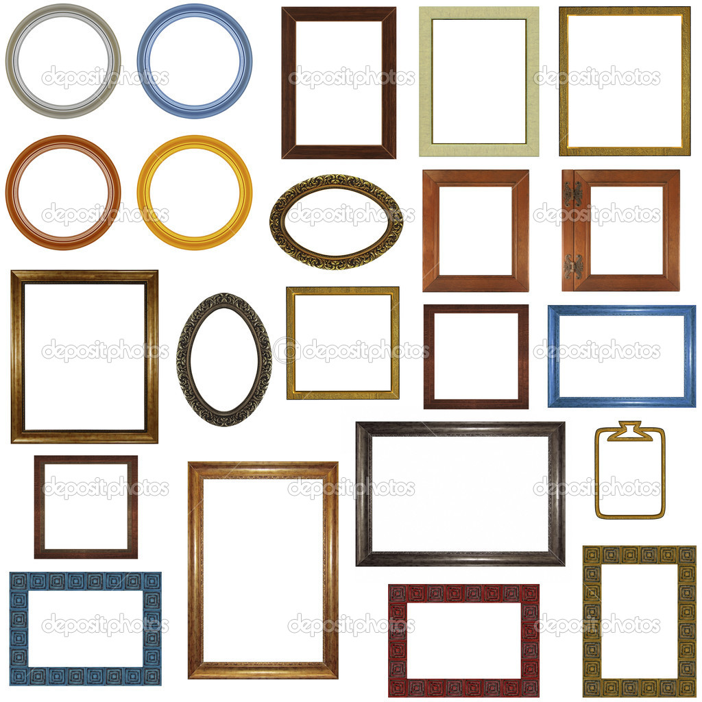 22 different picture frames