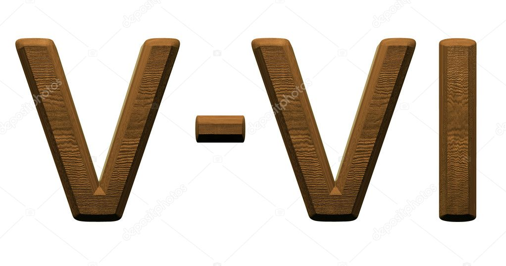 3d Wooden Roman Numbers On White Background Stock Photo Mg1408