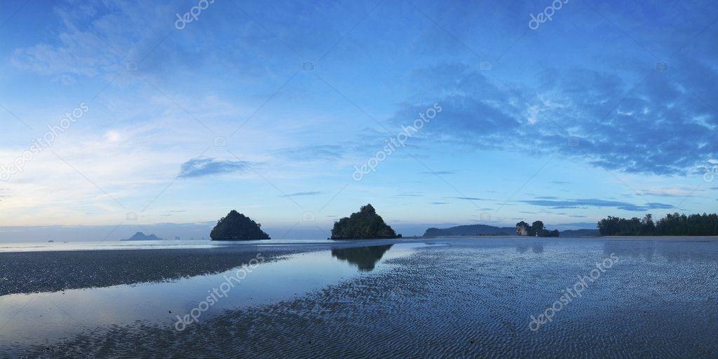 View of Ao Nang beach at dawn