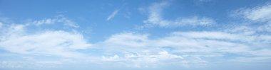 Panoramic shot of a beautiful cloudy sky stock vector