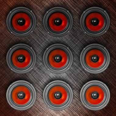 Wall-o-sound in red