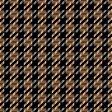 Tweed Texture in Brown and Black