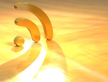 3D Rss Gold Text