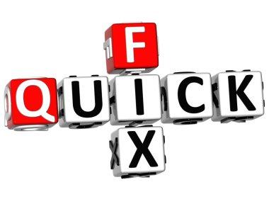 3D Quick Fix Crossword