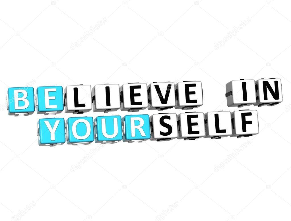 fb6ecf1c007 3D πιστεύεις στον εαυτό σου κείμενο — Φωτογραφία Αρχείου ...