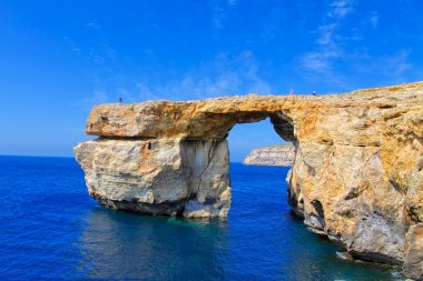 Azure Window, famous stone arch on Gozo island, Malta. HDR image