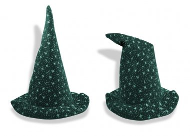 Wizard like hat in two poses