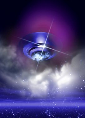 UFO in evening sky