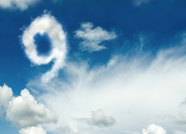 Cloud in the shape of number nine.
