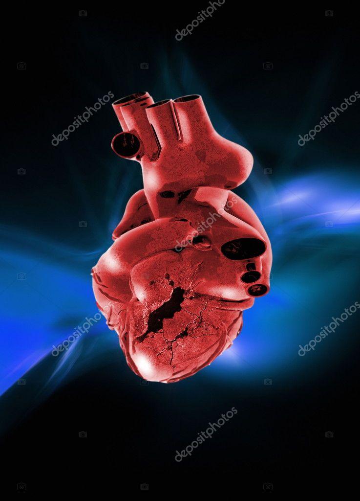 corazón humano roto — Fotos de Stock © maninblack #10256732