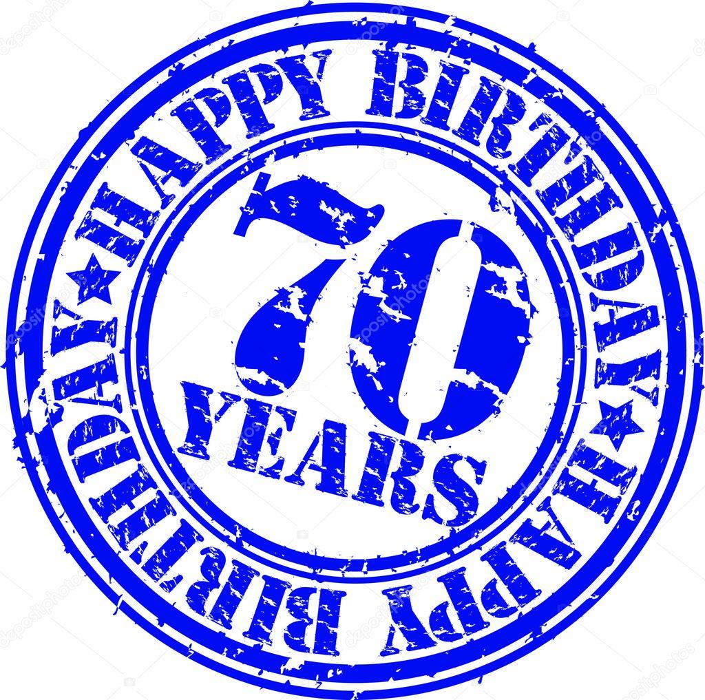 Grunge 70 let k narozenin m raz tko vektorov ilustrace stock vektor dinozzz 10579983 - Jaar wallpapers ...