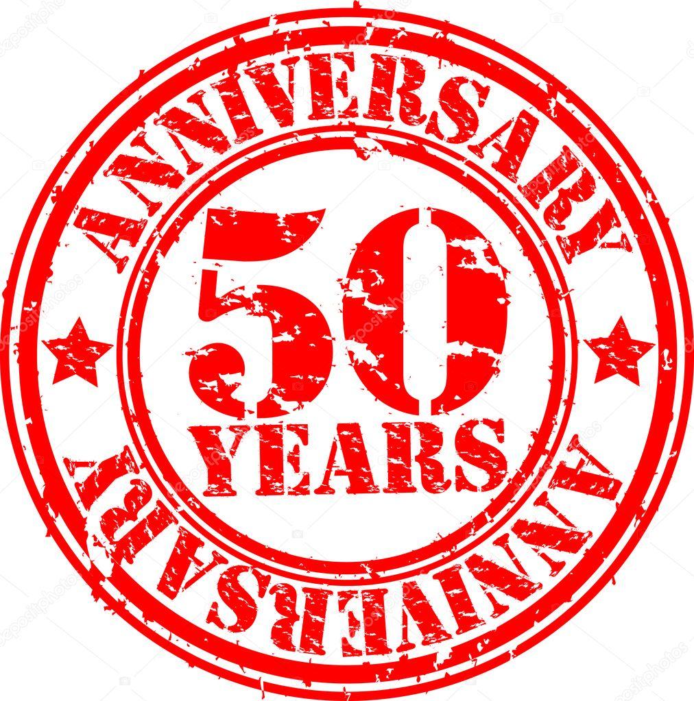 stempel 50 jaar Grunge 50 jaar verjaardag rubberstempel, vectorillustratie  stempel 50 jaar