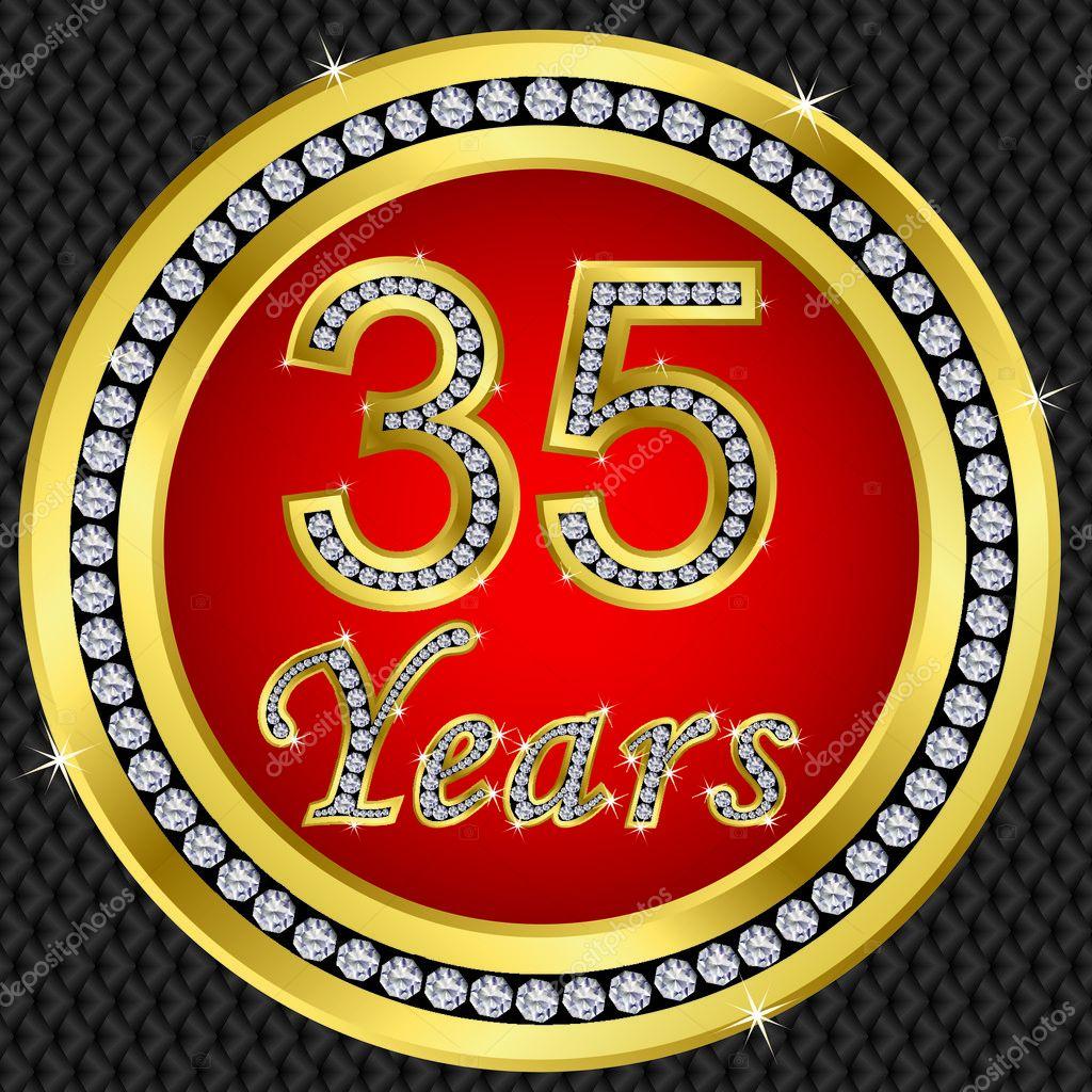 Celebrating 35 Years Stock Vectors Royalty Free Celebrating 35