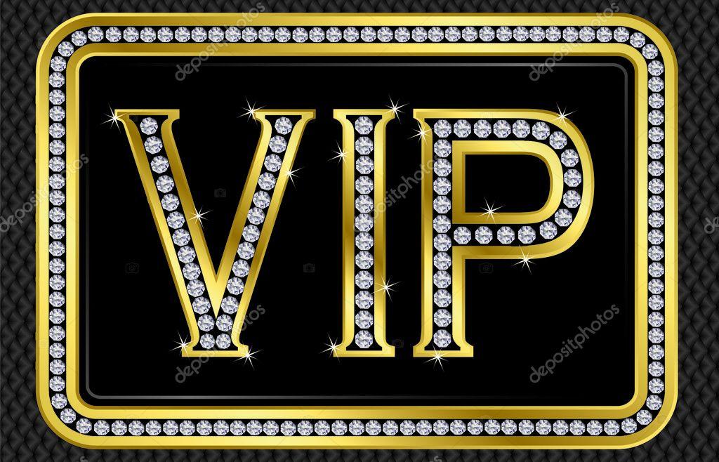 VIP card stock vector