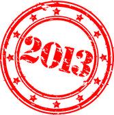 Fotografie grunge 2013 šťastný nový rok razítko, vecto ilustrace